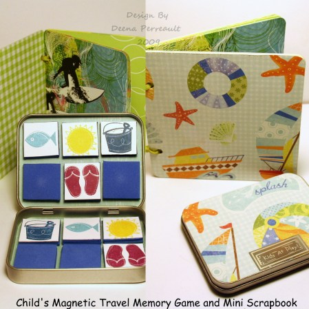 Magnetic memory game collage