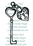 A Creative Need Vintage Heart and Key Preview
