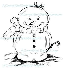 ACreativeNeed Mr. Snowman w 70