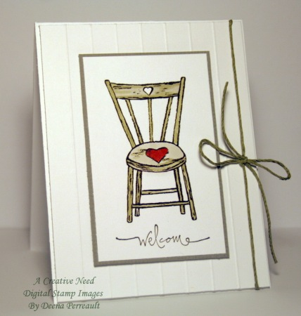 CAS Country Heart Chair w 60