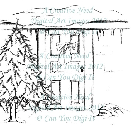 A Creative Need Holiday Door Preview