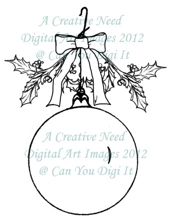 A Creative Need Holly Ornament Preview