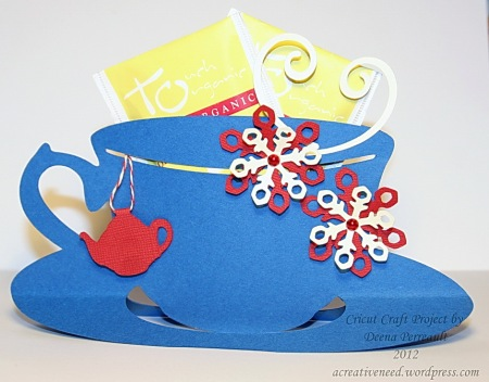 Cricut Craft Holiday Teacup Tea Holder 2