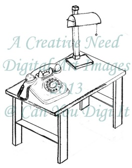 A Creative Need Retro Phone Table Preview
