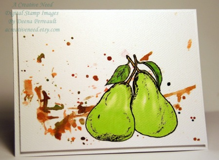 Paint splatter Pears
