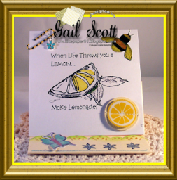 Lemonade easel card