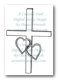 A Creative Need Cross with Intertwined Hearts Preview