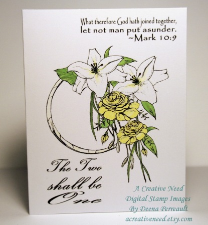 A Creative Need Wedding Bouquet Card Preview