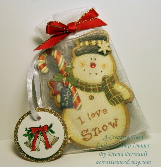 A Creative Need Gift Bag and Bell Tag
