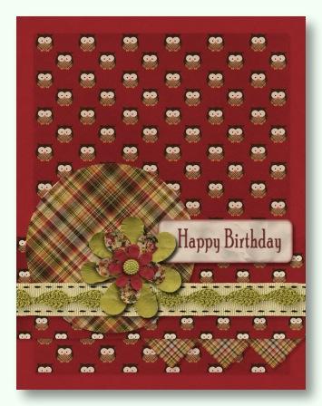 Digital MMS Autumn Birthday Card