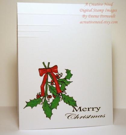 Christmas CAS Sprig of Holly