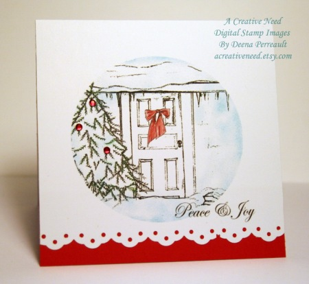 Peace and Joy at Home Square Card