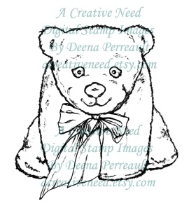 A Creative Need Stuffed Bear With Bow Preview