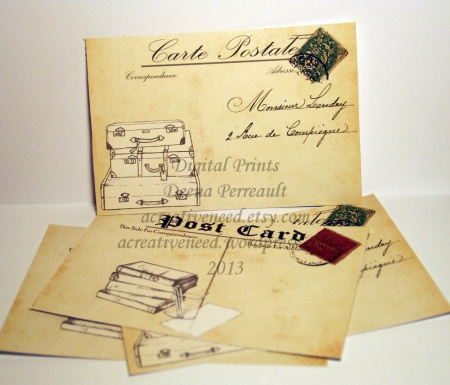 Post Cards printables