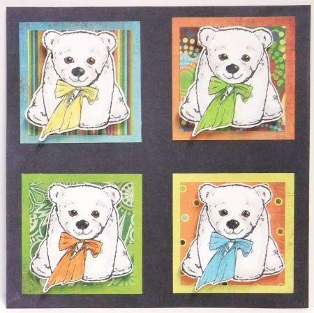 stuffed bear with bow 1