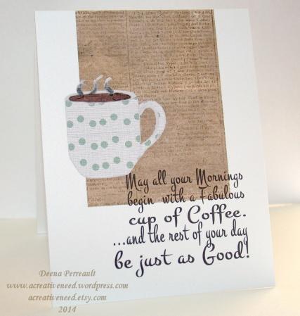 A Creative Need Morning Coffee