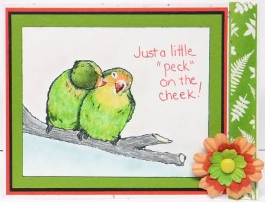 just a peck on the cheek