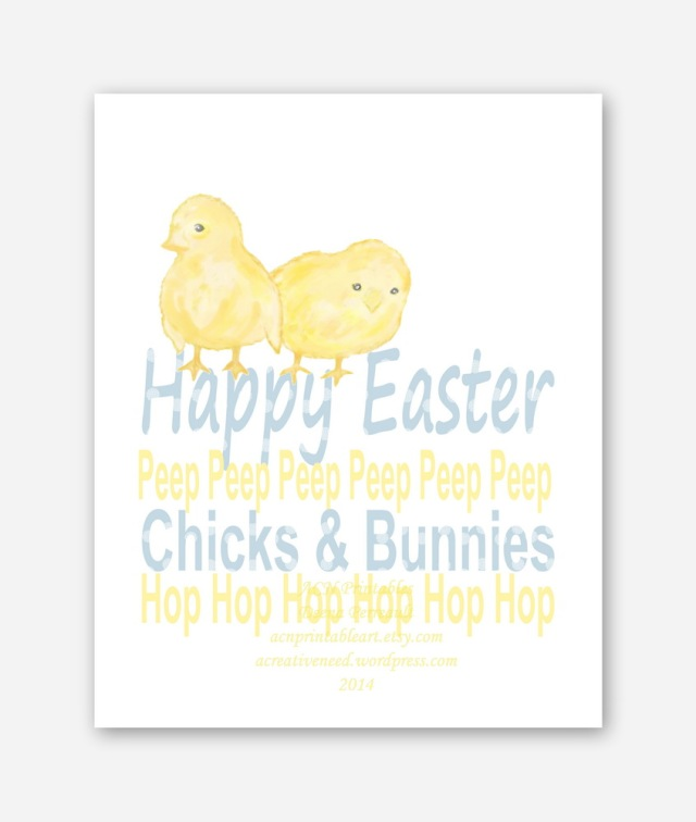 ACN Easter Chicks Art Print Preview