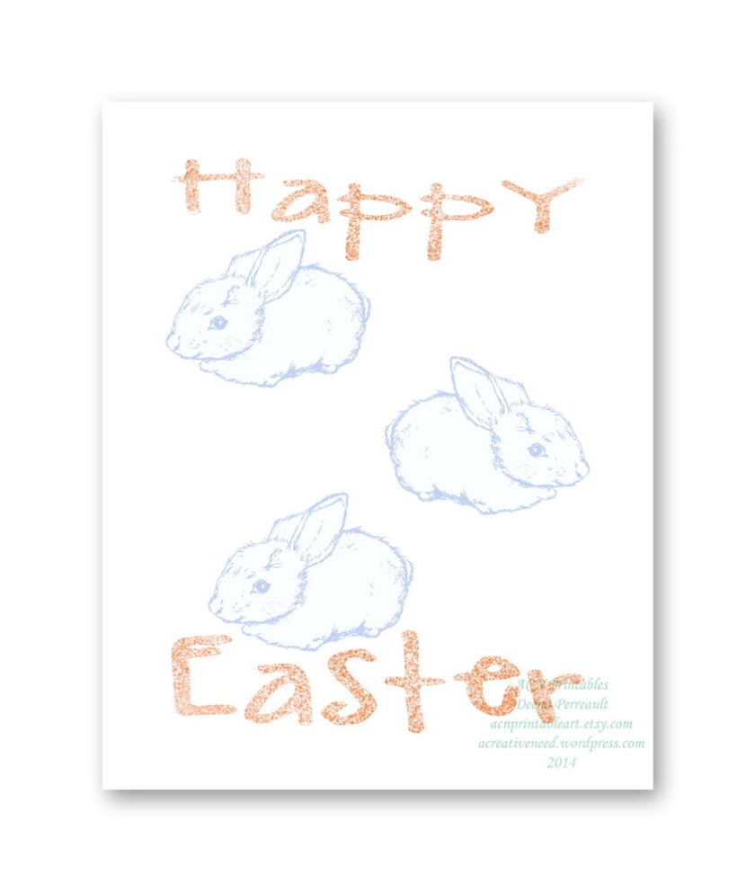 ACN Happy Easter Bunnies Print Preview