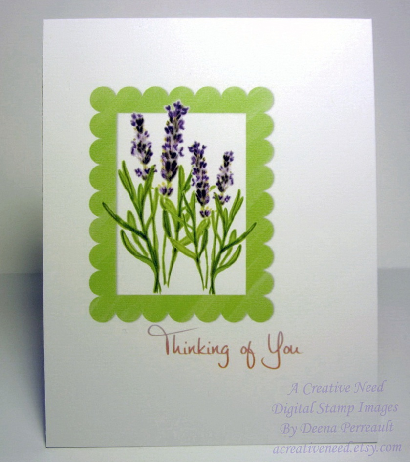 ACN Lavendar Thinking of You Card Preview