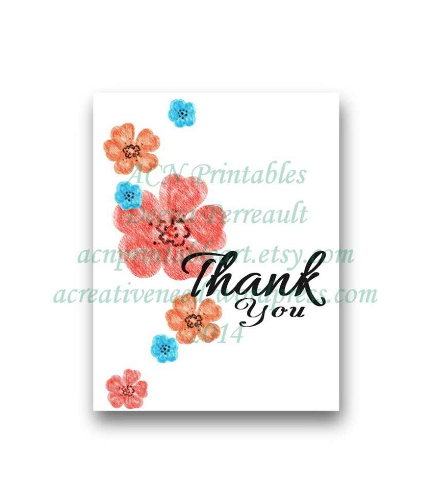 ACN Thank You Bold Color Blossoms Card Preview