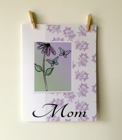 ACN Flower and Butterflies for Mom Card Preview 2
