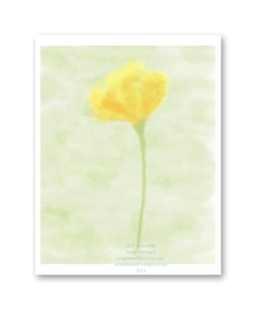 ACN Single Yellow Watercolor  print Preview