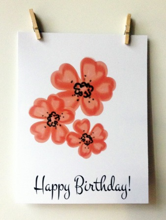 ACN Trio of Flowers Birthday Card Preview