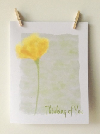 ACN Yellow Flower Thinking of You Card Preview