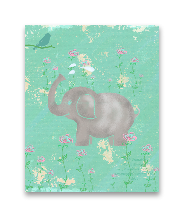 ACN Elephant Art Childrens Illustration Preview