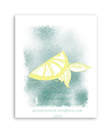 ACN Lemon Kitchen Art Print Preview
