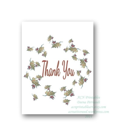 Fall Wreath Thank you Card Preview