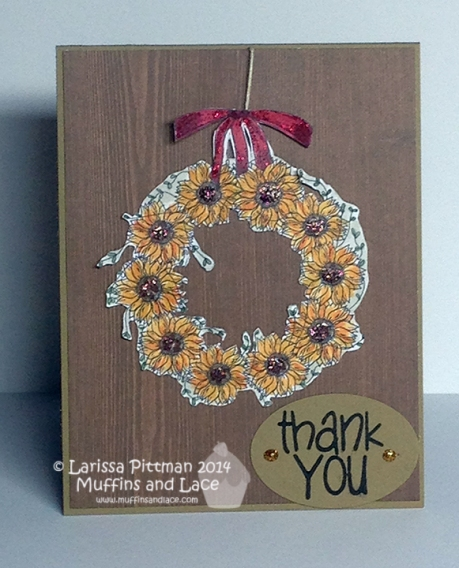 Muffins and Lace using A Creative Need Sunflower Wreath (1)