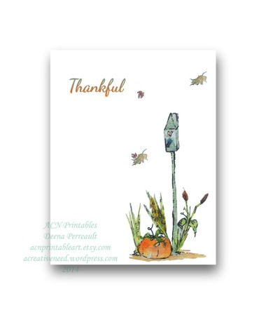 Thankful Fall Birdhouse Card Preview