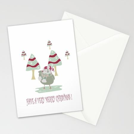Merry Christmas Birdie Card