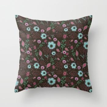 Naif Art throw pillow
