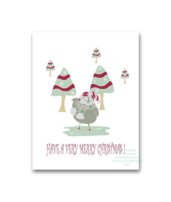 Christmas Birdie Card Preview 2