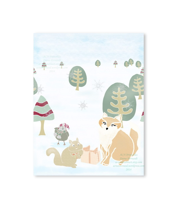 Forest Friends Winter Gathering Card Preview 2