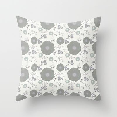 Grey Morning throw pillow