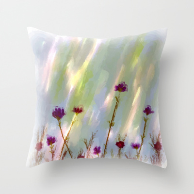 impressionist Wild Flowers throw pillow - Copy