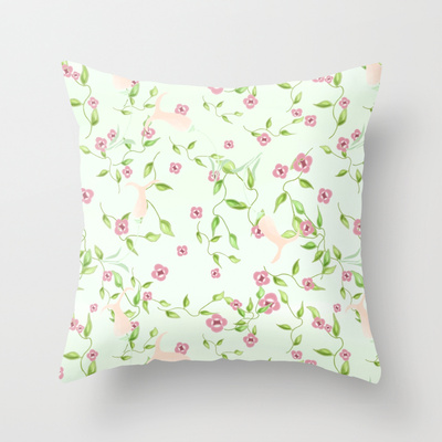 Laura's Garden throw pillow