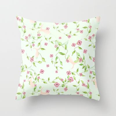 Laura's Garden throw pillow