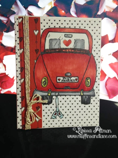 Designed by Larissa Pittman of Muffins and Lace for A Creative Need DT using image Just Married