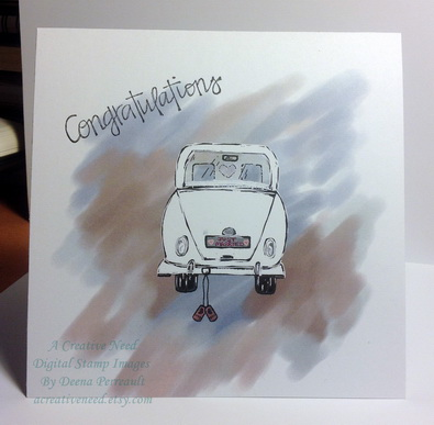 Just Married Congratulations card
