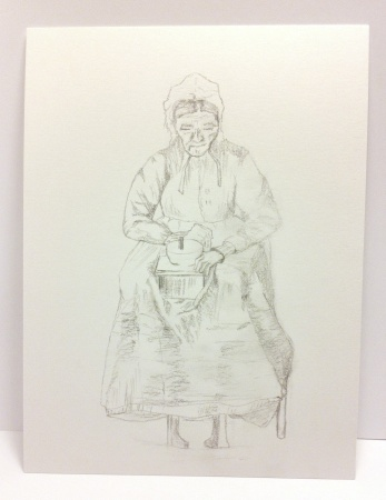 Woman Grinding Coffee