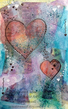 Heart Art Mixed Media Preview 1
