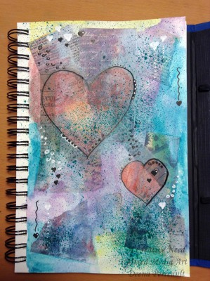 Heart Art Mixed Media Preview