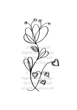 My Heart Needs Art Doodle Art Flower preview