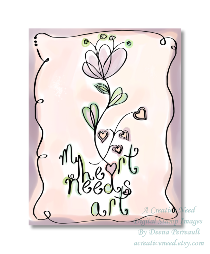 My Heart Needs Art Painted Illustration Preview