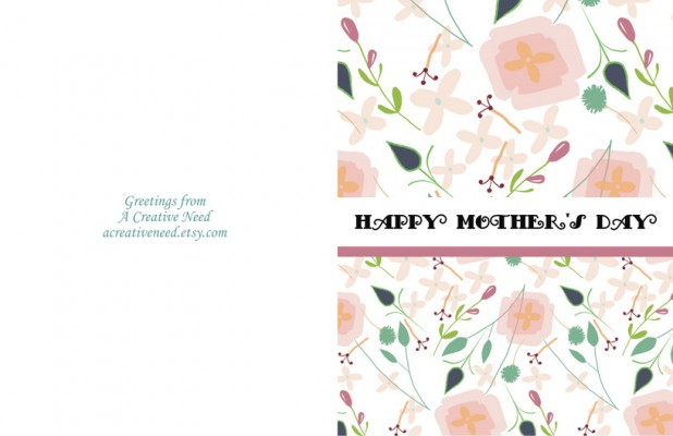Mother's Day Card Pattern Preview